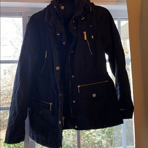 Navy blue michael kors jacket